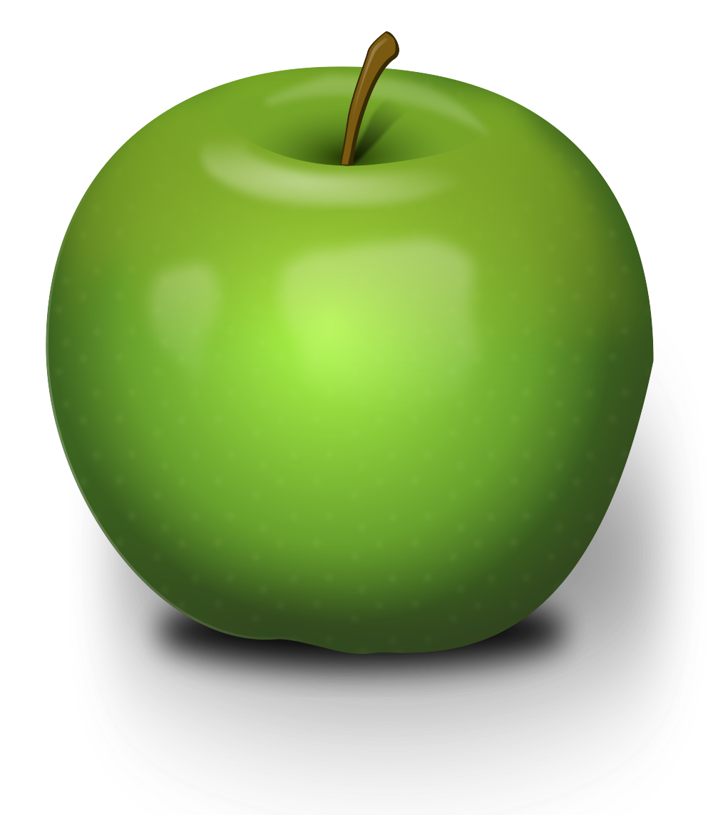 Apple clipart rendered clip art free library File:Chrisdesign Photorealistic Green Apple.svg - Wikimedia Commons clip art free library