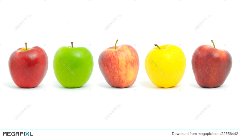 Apple clipart rows png transparent library Row Of Apples. Stock Photo 22556442 - Megapixl png transparent library