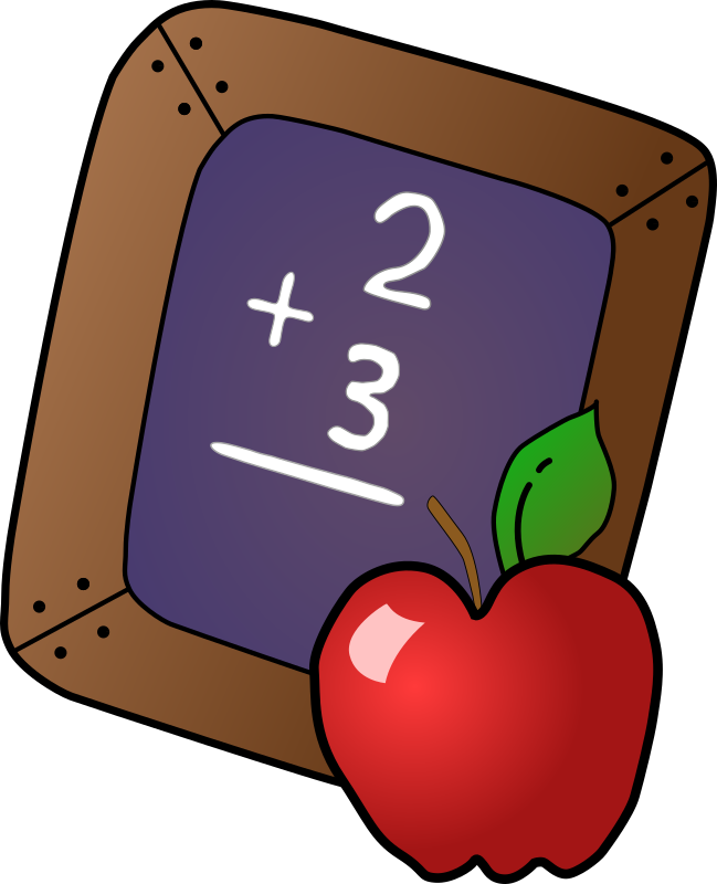 Apple clipart school banner royalty free stock Clipart - Slate & Apple banner royalty free stock