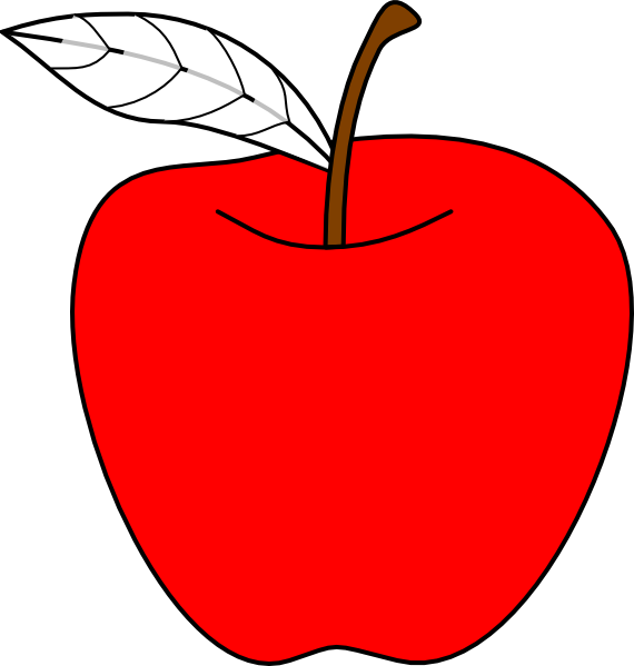 Apple clipart small royalty free library Apple Clip Art at Clker.com - vector clip art online, royalty free ... royalty free library