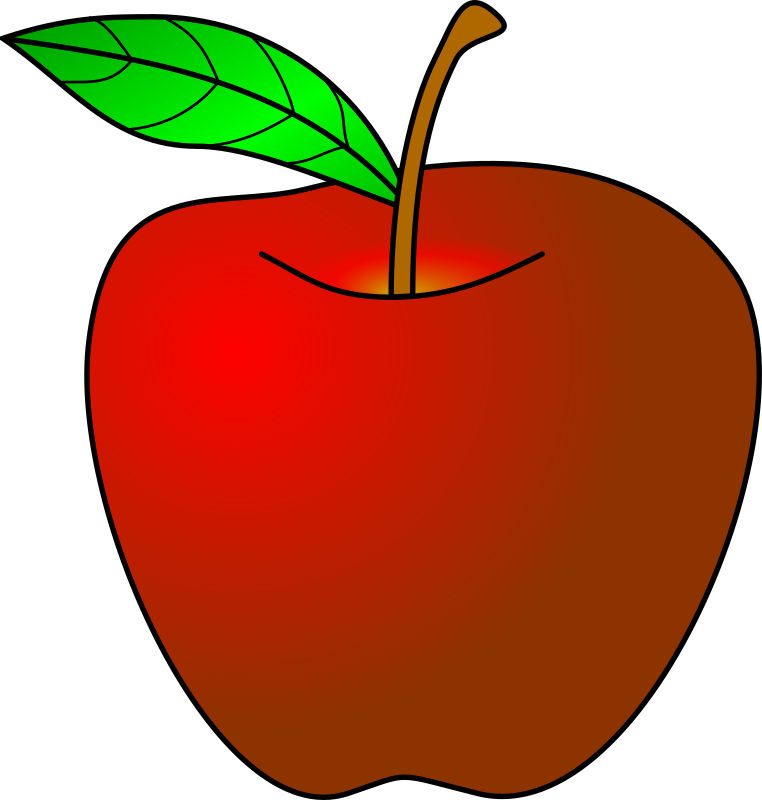 Apple clipart solid color png freeuse Red Apple Clipart - Free Clip Art - Clipart Bay png freeuse