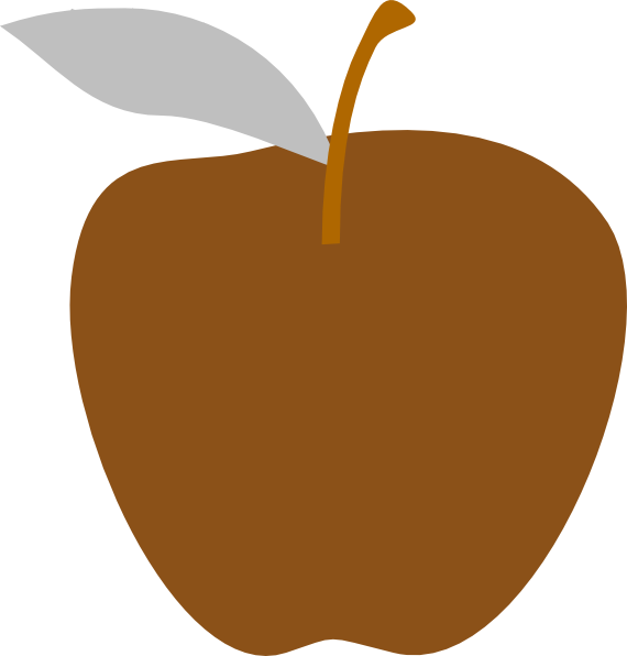 Apple orange clipart png transparent library Brown Apple Edited Clip Art at Clker.com - vector clip art online ... png transparent library