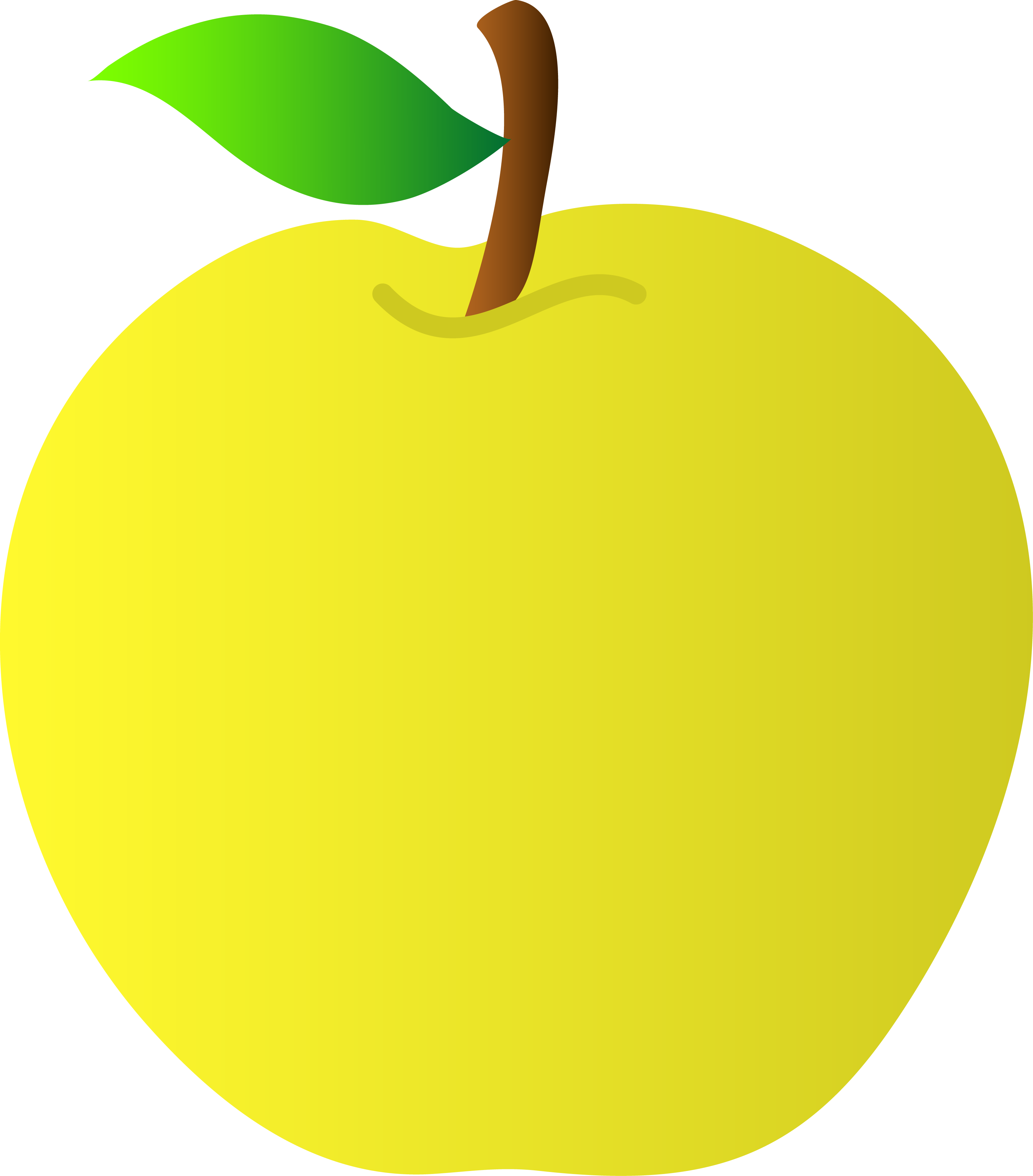 Healthy apple clipart clipart free library Yellow Apple Vector Art - Free Clip Art clipart free library