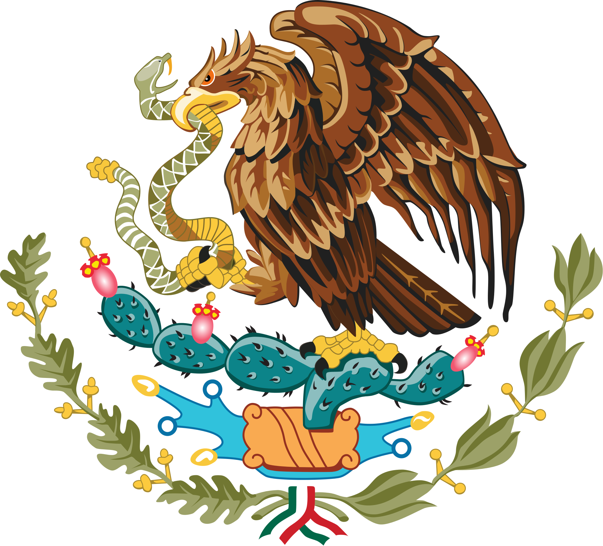 Eagle wearing a crown clipart image black and white stock Coat of arms of Mexico - Wikipedia, the free encyclopedia | 16 de ... image black and white stock