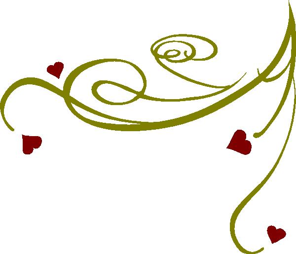 Apple clipart w swirly design vector freeuse stock Swirl Heart Clipart vector freeuse stock
