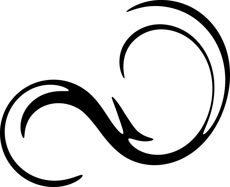 Apple clipart w swirly design svg transparent stock Black Swirls Clipart Transparent - 16962 - TransparentPNG svg transparent stock