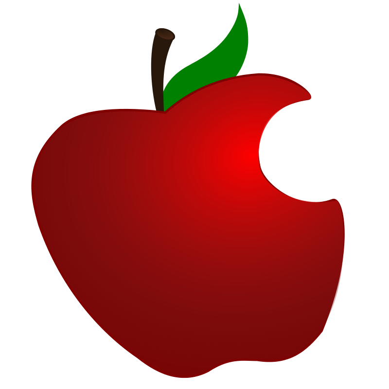 Apple clipart with a bite graphic freeuse stock Free Clipart: Apple with Bite | LibertyBudget.com graphic freeuse stock
