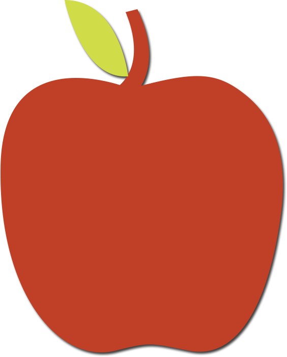 Apple clipart with name sticker graphic Buncee graphic