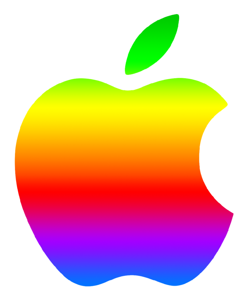 Colored apple clipart black and white Colored Modern Apple Logo 2 by GreenMachine987 on DeviantArt black and white