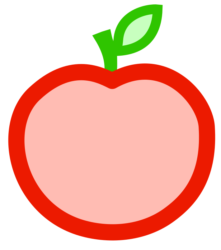 Red core apple clipart transparent stock Clipart - Apple transparent stock