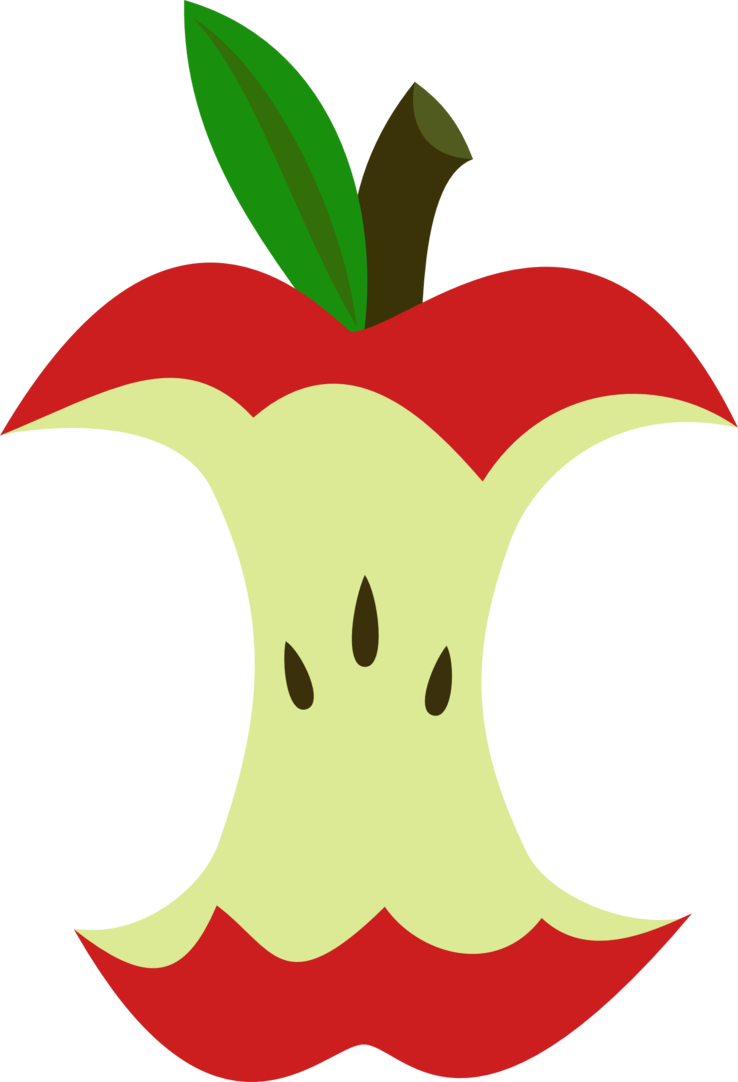 Apple core clipart graphic royalty free library Apple Core cutie mark request by The-Smiling-Pony on DeviantArt graphic royalty free library