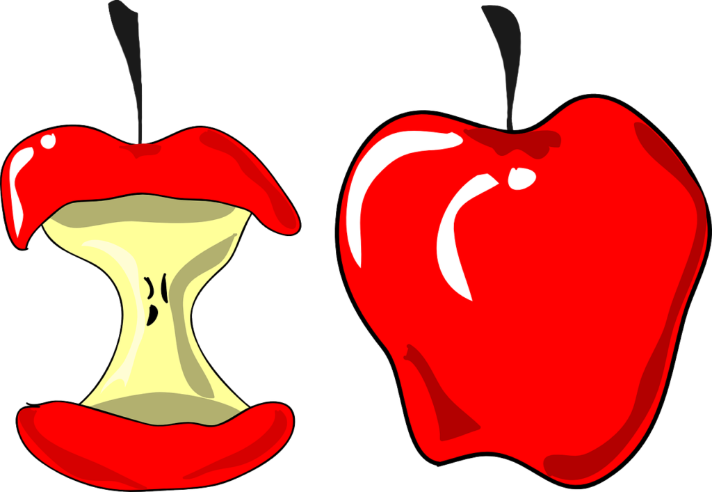 Apple core clipart free jpg free library Apple Bite Clipart | typegoodies.me jpg free library