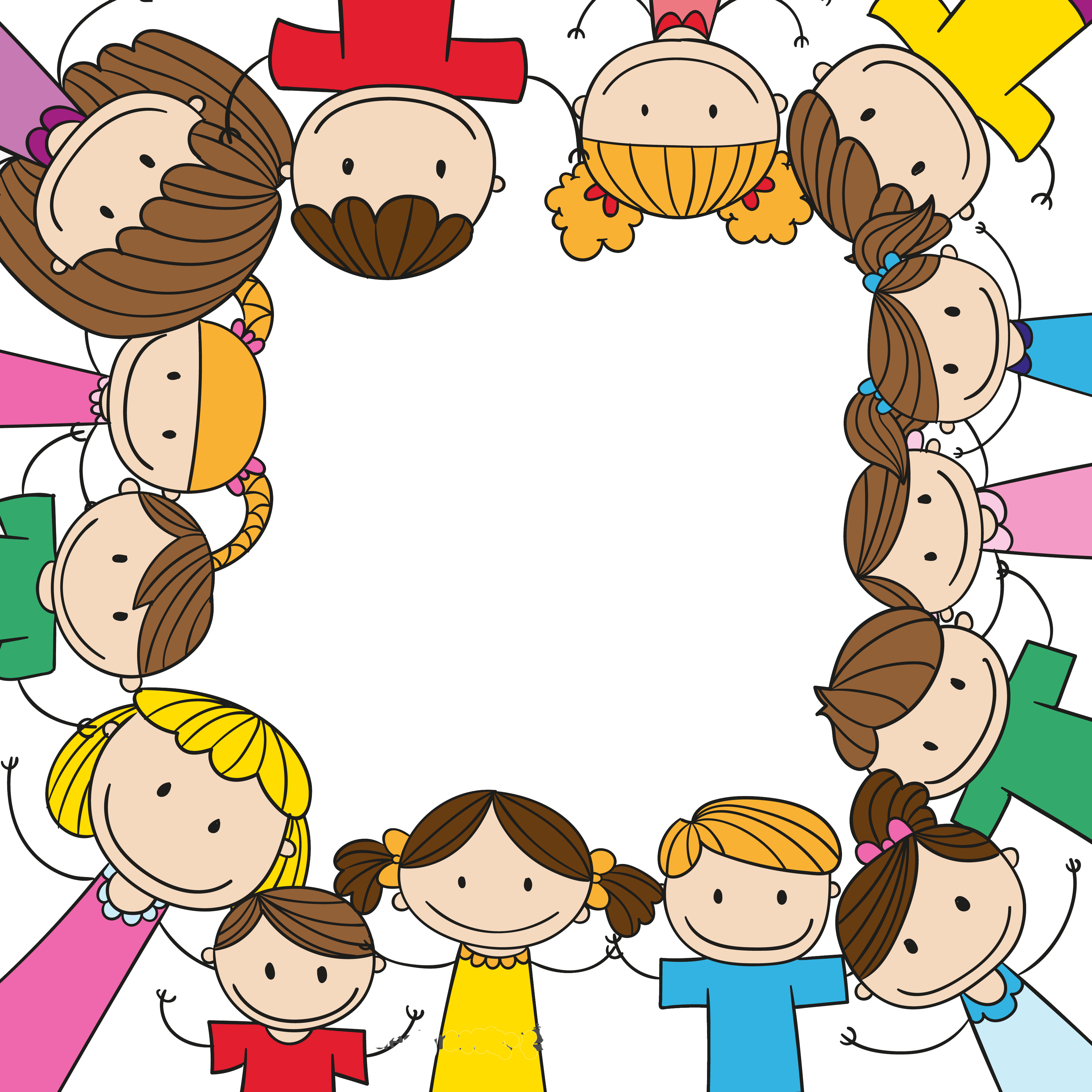 Mom and kid in car clipart clip download Child Play Clip art - Cartoon children holding hands border ... clip download