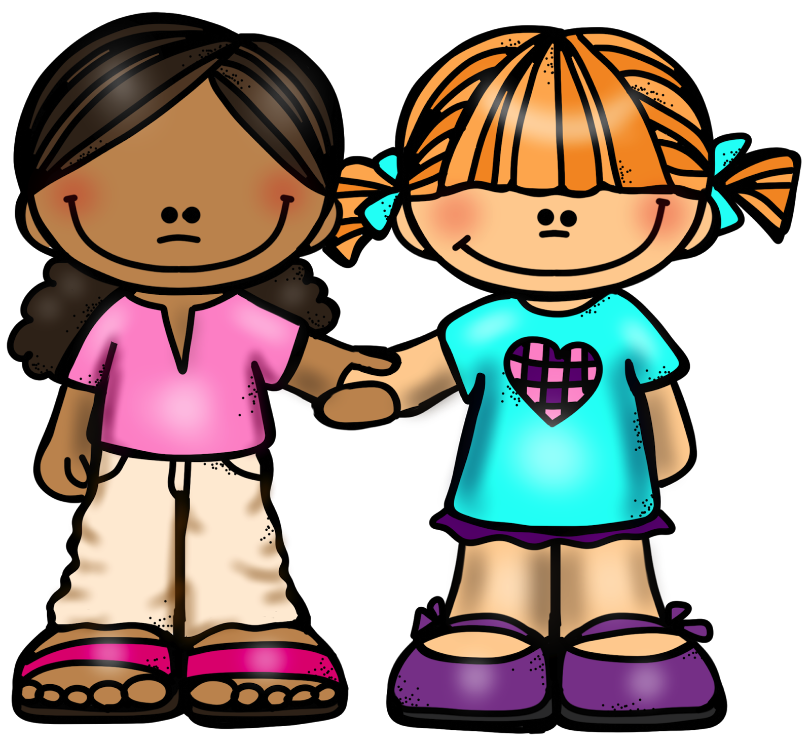 Friends at school clipart graphic freeuse download girl+friends+holding+hands.png (1600×1473) | toons | Pinterest ... graphic freeuse download