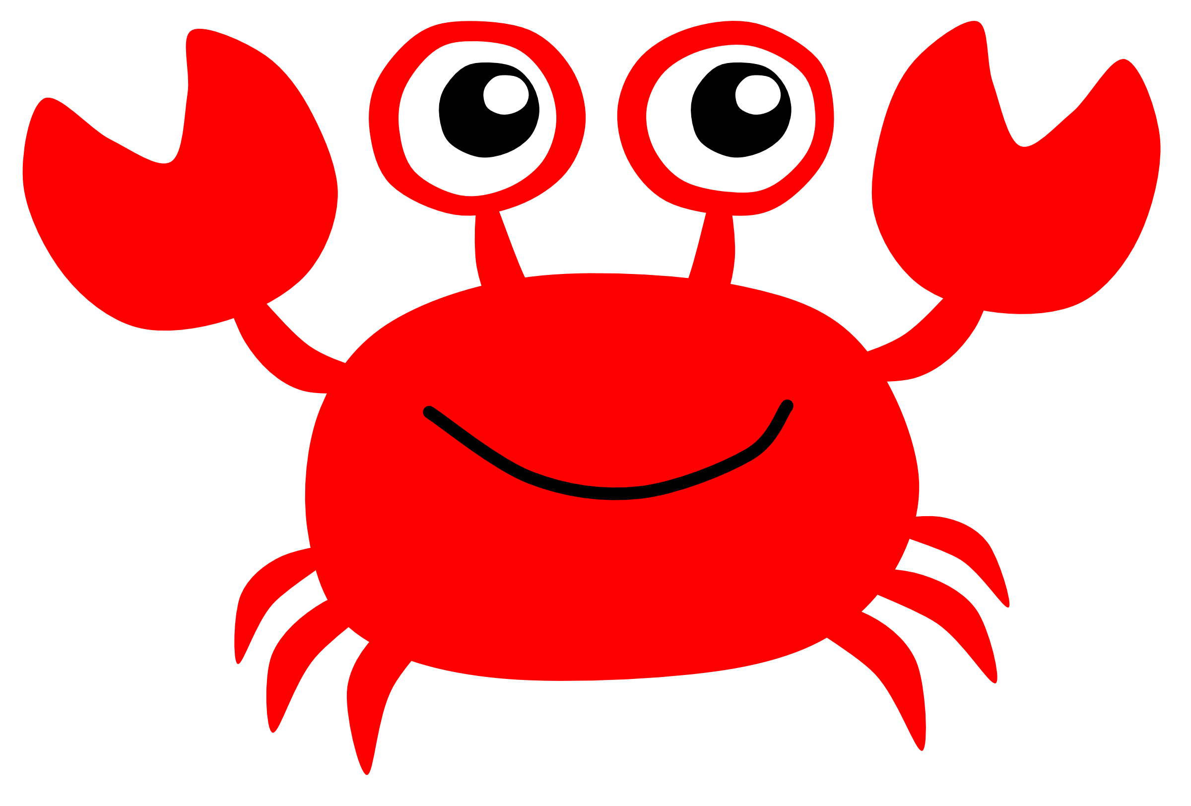 Apple crab clipart black and white graphic black and white library Crab Silhouette Clip Art at GetDrawings.com | Free for personal use ... graphic black and white library