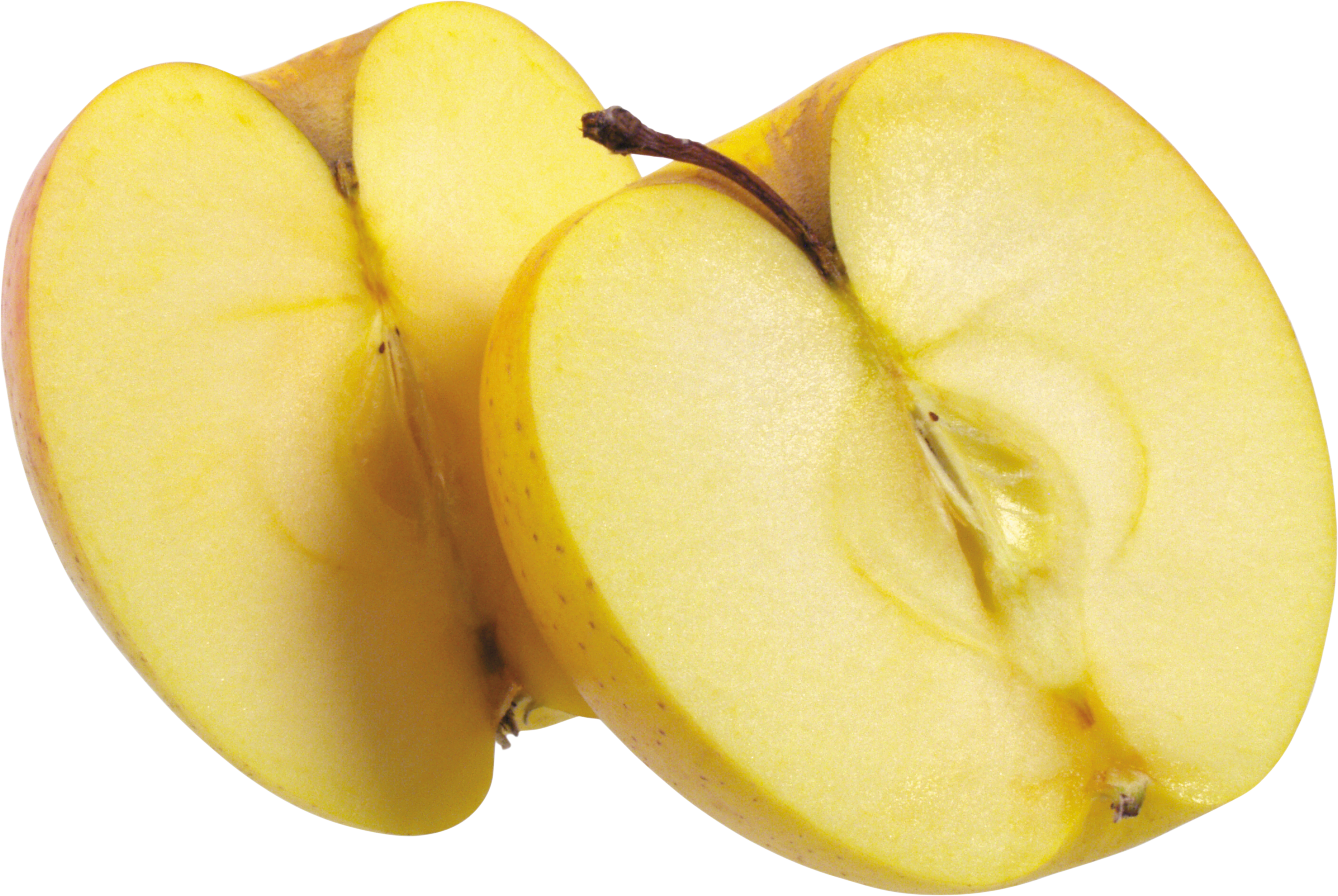 Apple in half clipart picture freeuse library Yellow Apple Cut in half PNG Image - PurePNG | Free transparent CC0 ... picture freeuse library