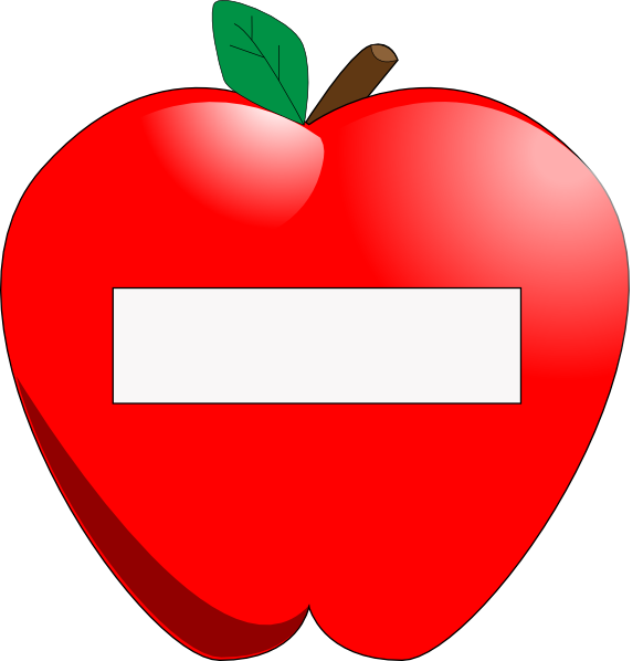 Apple design clipart png black and white stock Apple Name Tag Clip Art at Clker.com - vector clip art online ... png black and white stock