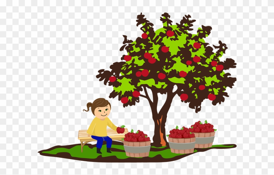 Apple doesn t fall far from the tree clipart clipart black and white download Colorful Clip Art For The Fall Season - Fall Apple Tree Clip Art ... clipart black and white download