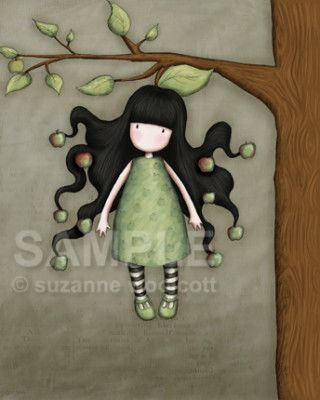 Apple doesn t fall far from the tree clipart picture transparent library The Apple Doesn\'t Fall Far From The Tree | love Gorjuss | Art, Cute ... picture transparent library