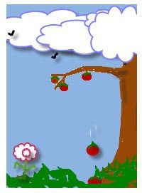 Apple dropping clipart image download Apples Falling From a Tree   Homeschool Science for Kids image download