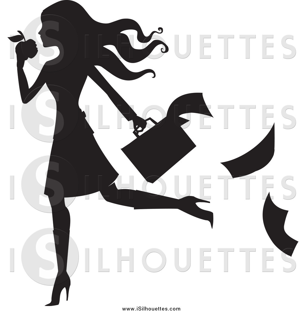 Apple dropping clipart picture library Clipart of a Black Silhouetted Woman Dropping Paperwork While ... picture library