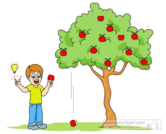 Apple dropping clipart clip art library stock Newton Apple Tree Clipart clip art library stock