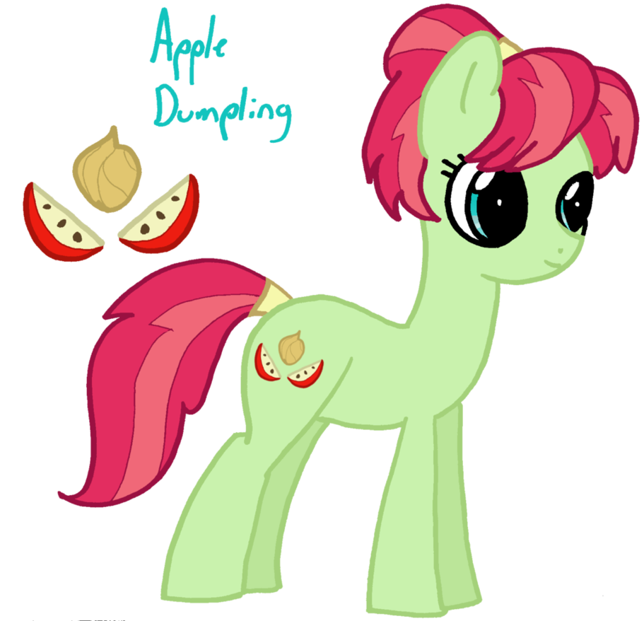 Apple dumpling clipart free stock Daily Pony #64: Apple Dumpling by SlideSwitched on DeviantArt free stock