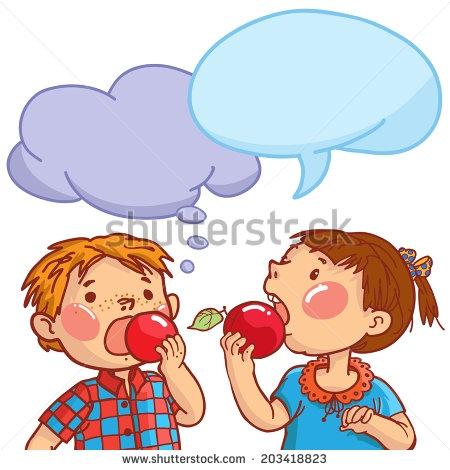 Girl clipartfox. Apple eating apple clipart