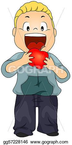 Apple eating apple clipart svg free download Drawing - Kid eating apple. Clipart Drawing gg57228146 - GoGraph svg free download