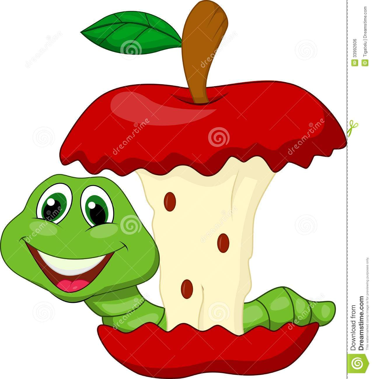 Apple eating apple clipart clip art library download Cartoon Worm Eating Apple - Clipart Kid clip art library download