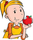Apple eating apple clipart. Kid clip art and