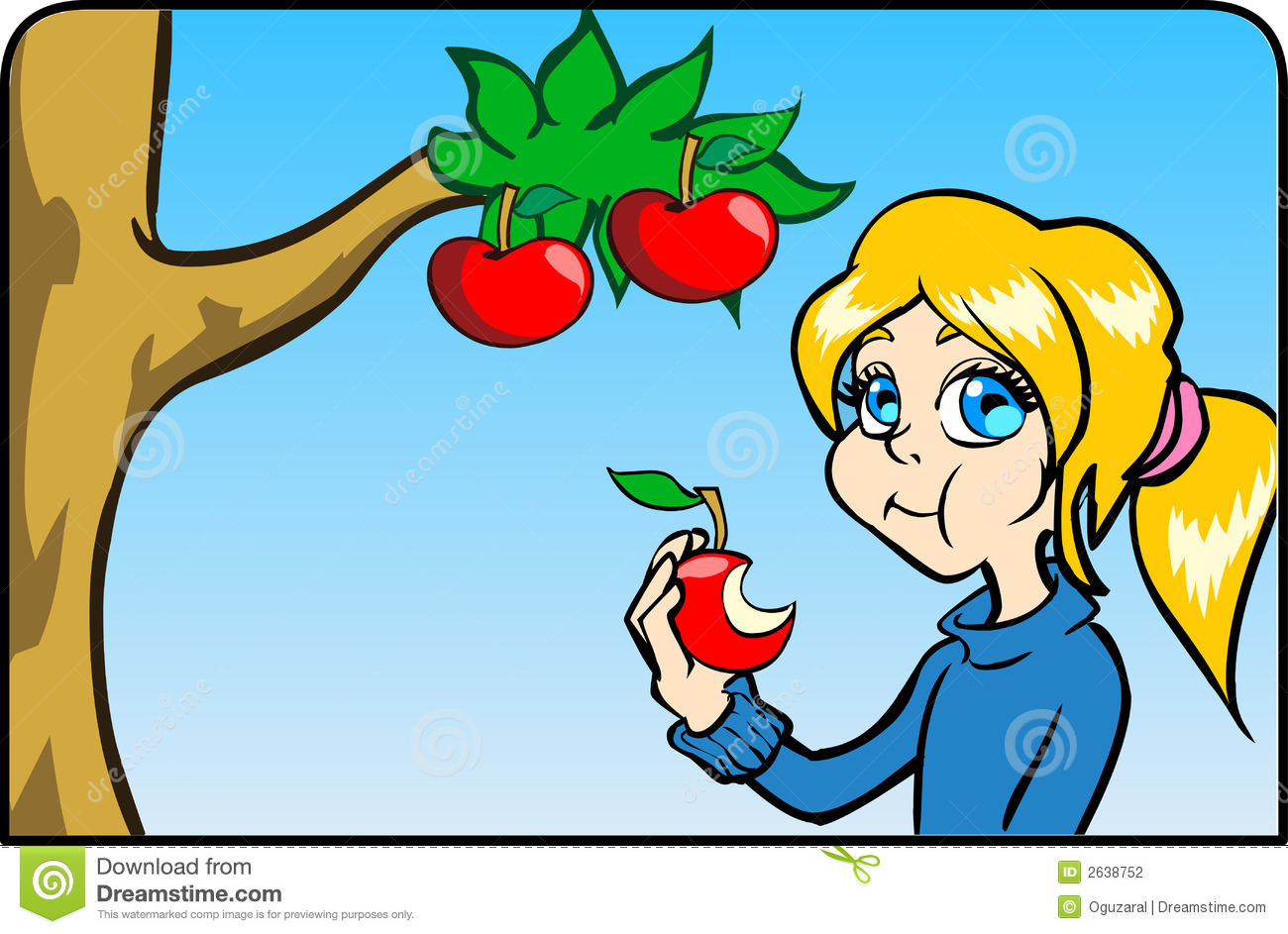 Teal clipartfest girl. Apple eating apple clipart