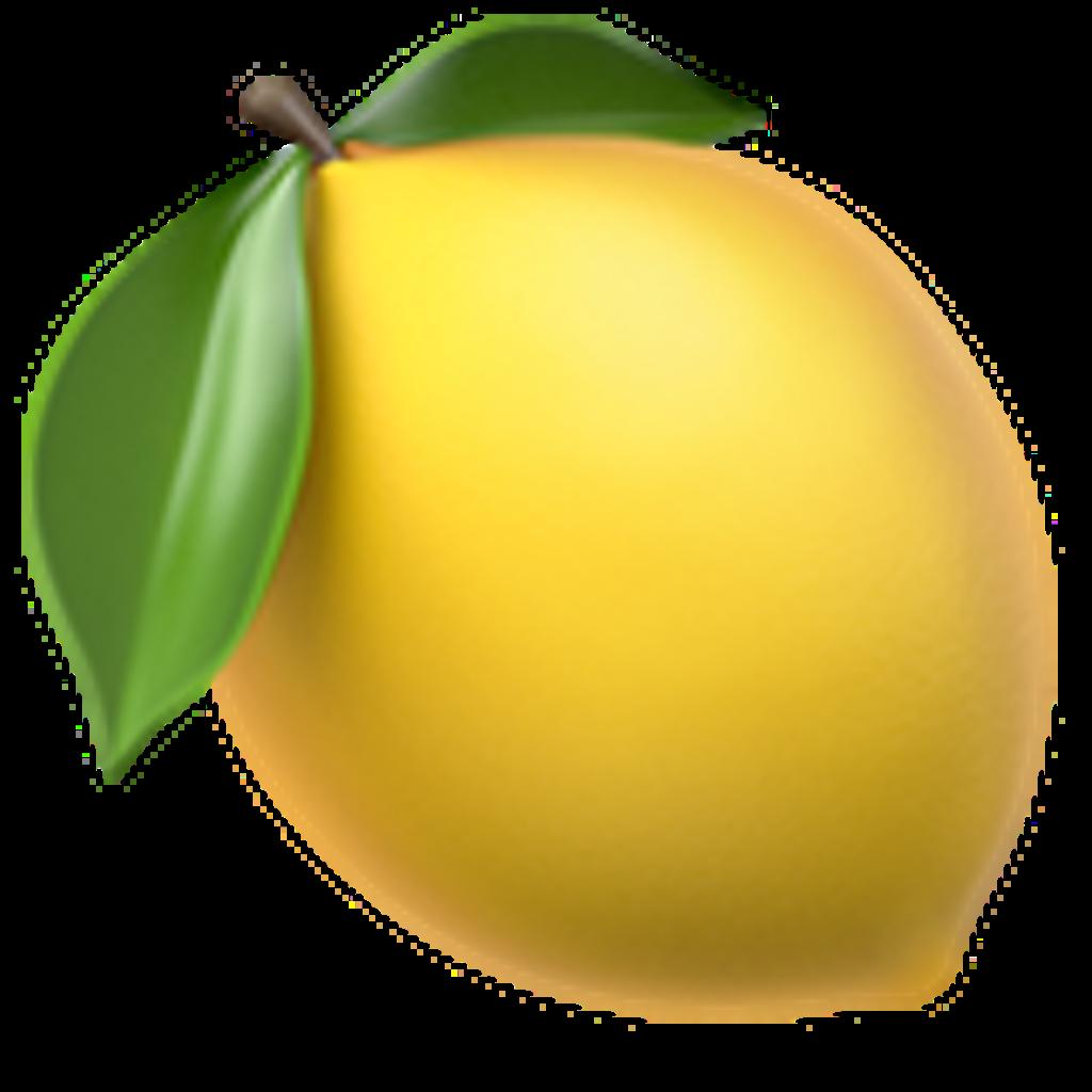 Apple emotions clipart clip art free Lemon emoji apple ios11 yellow - Sticker by —야이니 clip art free