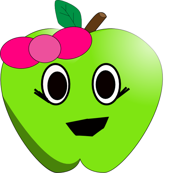 Apple smiley face clipart clip art freeuse Smilling Little Apple Clip Art at Clker.com - vector clip art online ... clip art freeuse