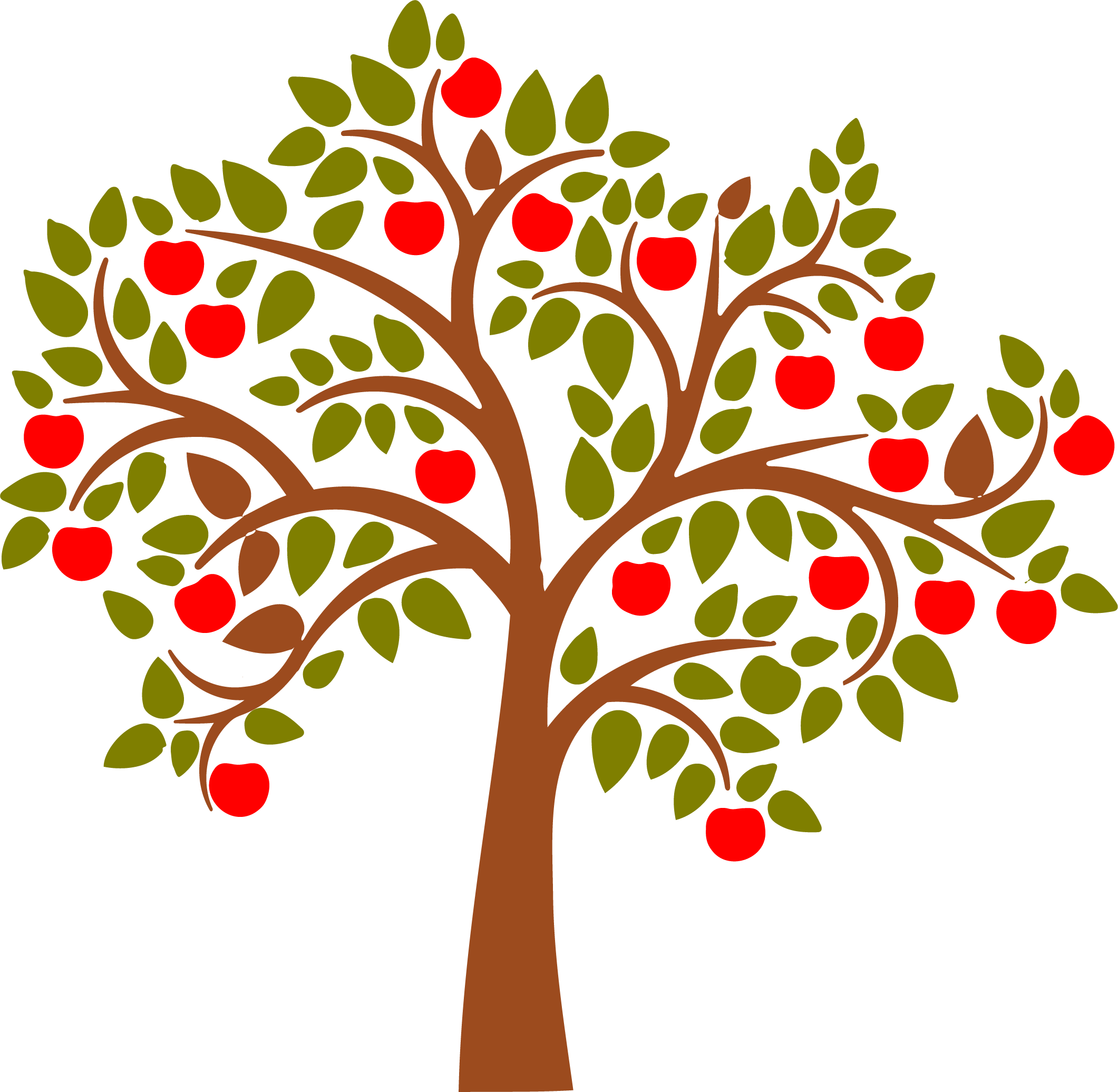 Colored apple silhouette clipart graphic library library 28+ Collection of Apple Tree Drawing Images | High quality, free ... graphic library library