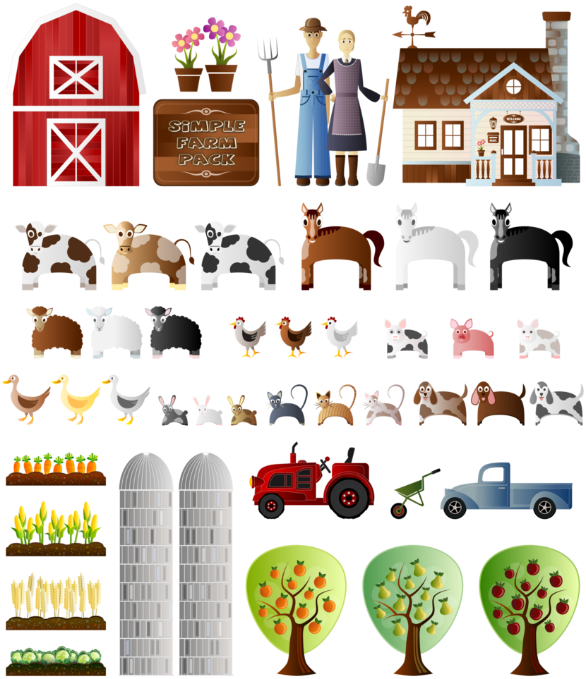 Apple farm clipart jpg library library Simple Farm Pack by Viscious-Speed on DeviantArt jpg library library