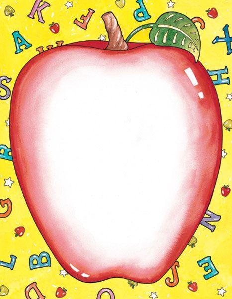 Apple frame clipart clip art transparent Apple, School Design Paper, 8.5x11, 100/PK | Printable Design Paper ... clip art transparent