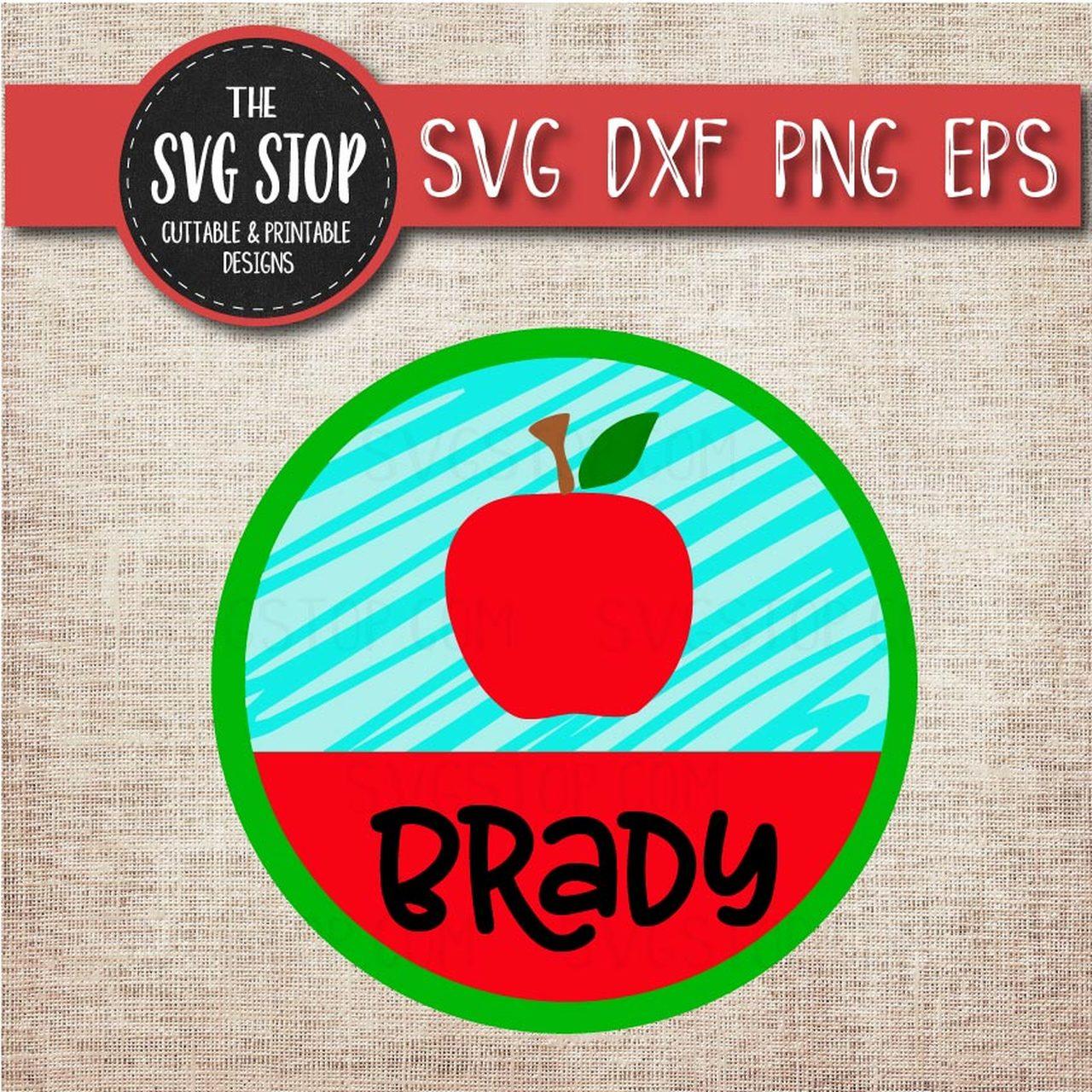 Apple frame clipart clipart download Apple Monogram Name Frame - School - Teacher - Svg Dxf Png Eps - Clipart -  Cut File clipart download