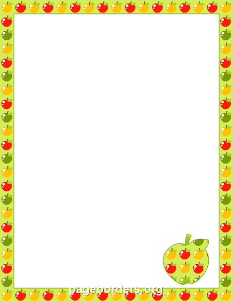Apple frame clipart svg royalty free Apple Border | Clip art | Page borders, Borders, frames, Page ... svg royalty free