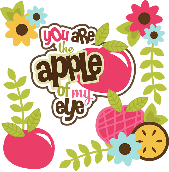 Apple garden clipart picture library download You Are The Apple Of My Eye SVG apple svg file svg files for ... picture library download