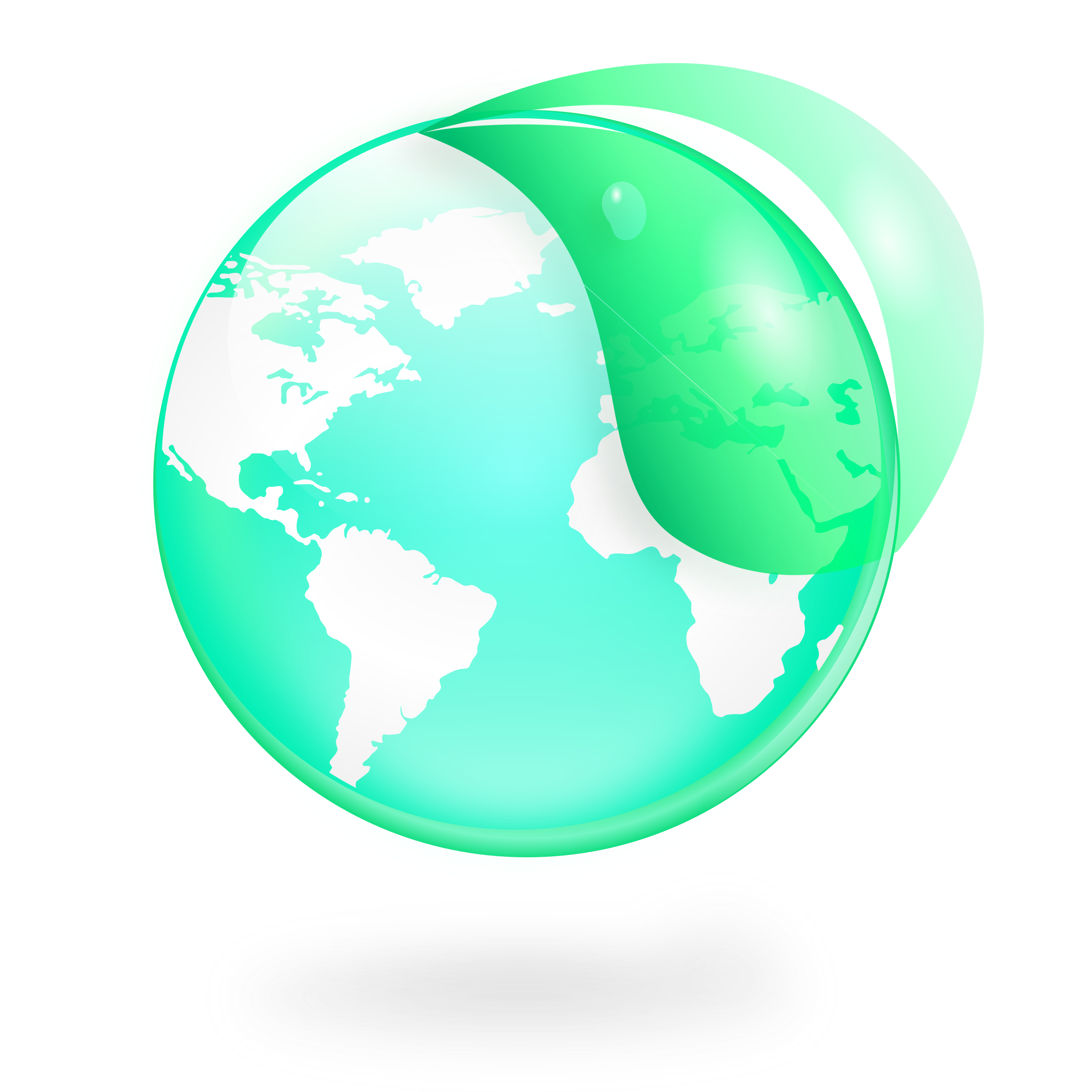 Apple globe world map clipart banner library download Clipart - Environmental / Eco Globe & Leaf Icon banner library download