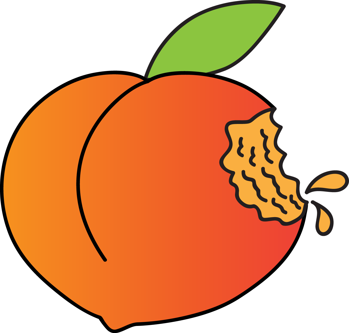 Apple halves clipart svg freeuse Peaches in Rhode Island - Rhode Island Monthly svg freeuse