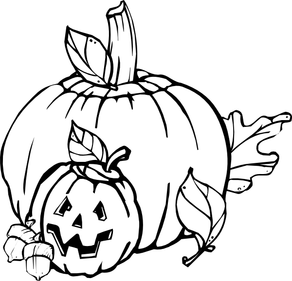 Black and white halloween clipart image black and white 28+ Collection of Black And White Fall Pumpkin Clipart | High ... image black and white