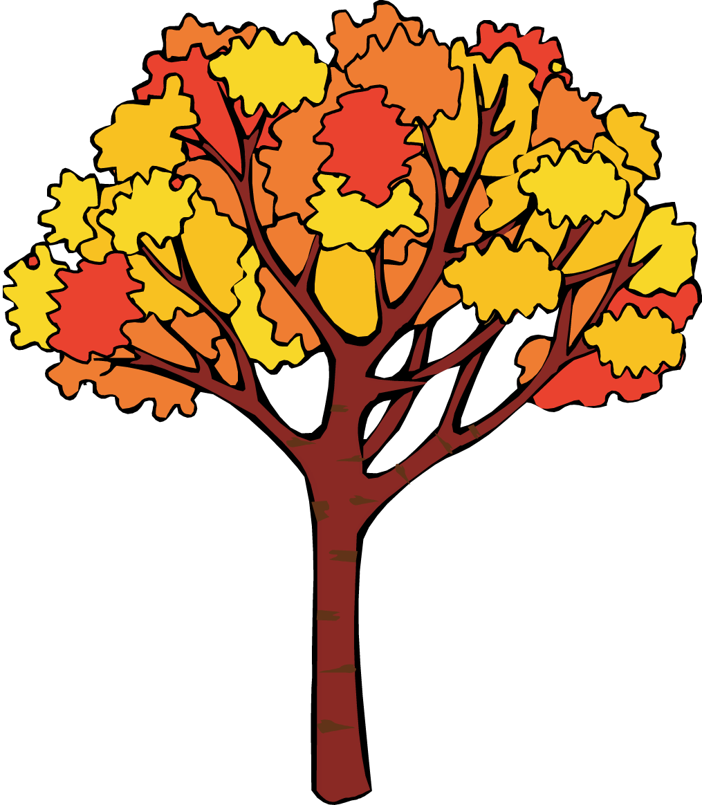 Handprint tree clipart banner royalty free free fall trees clip art | Fall Tree Clip Art | Tin Pedlar Maine ... banner royalty free