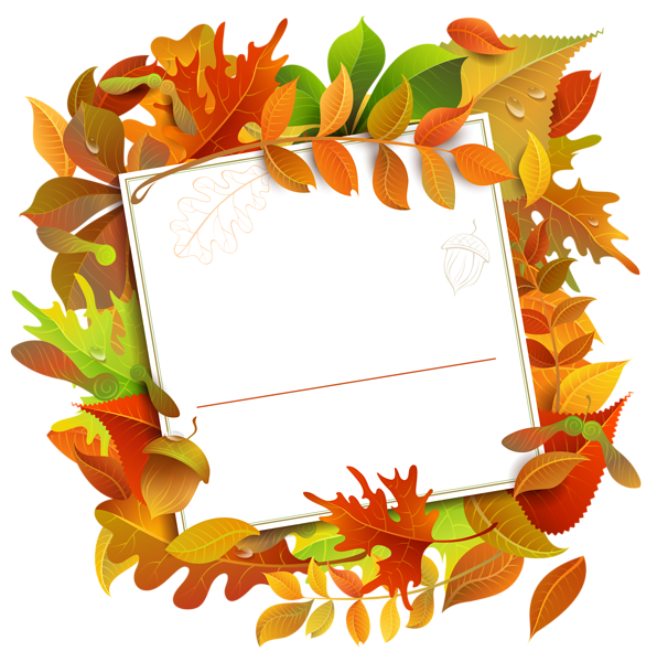 Apple harvest divider clipart clip freeuse library Fall Decorative Blank with Leaves PNG Clipart Image | Borders and ... clip freeuse library