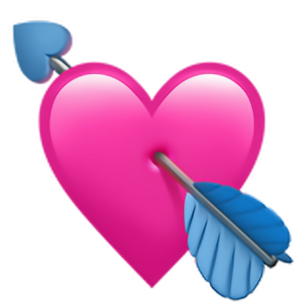 Apple heart clipart royalty free download heart arow applemoji Apple pink love... royalty free download
