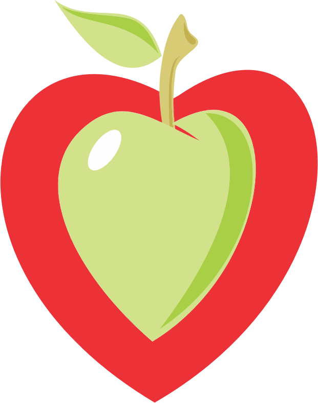 Apple heart clipart clipart transparent stock Clipart - Heart Apple clipart transparent stock