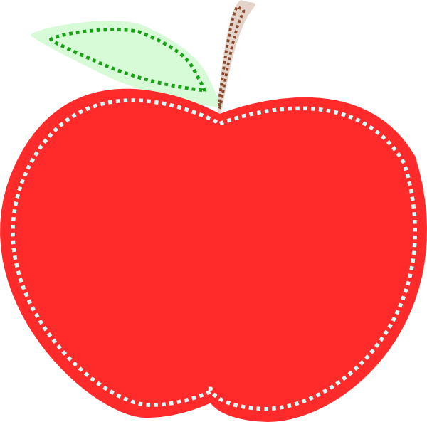 Apple slice clipart image black and white Red Apple Clip Art at Clker.com - vector clip art online, royalty ... image black and white