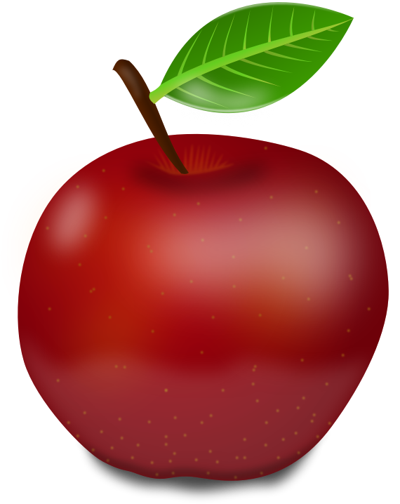 Free clipart of red apple svg royalty free library Clipart - Red apple svg royalty free library