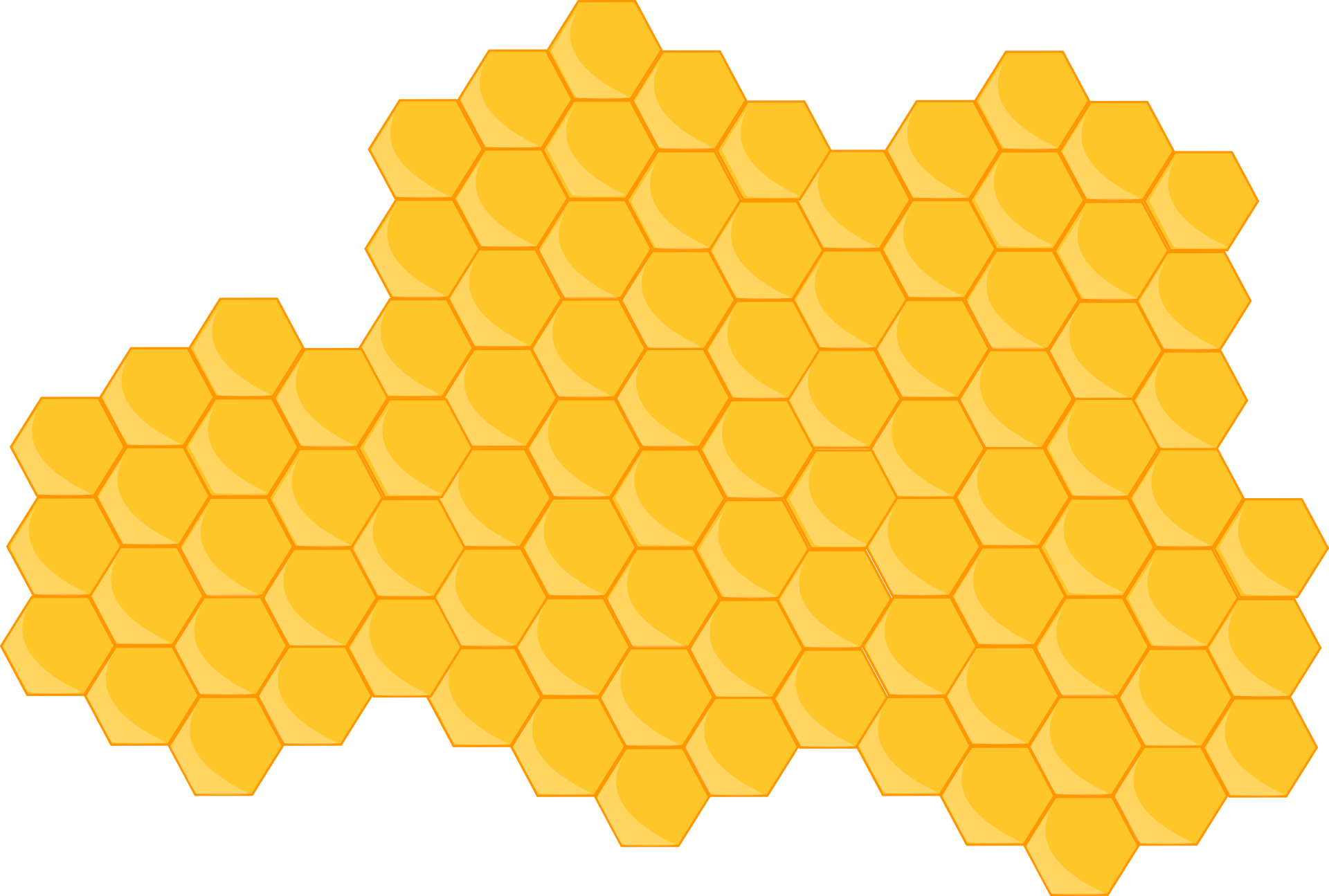 Apple in honey clipart vector free stock Beehive Honeycomb Clip art - honey 1920*1295 transprent Png Free ... vector free stock